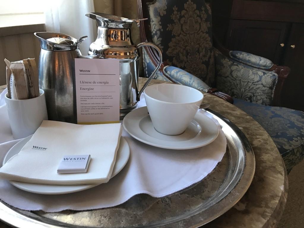 The Westin Palace Madrid coffee service