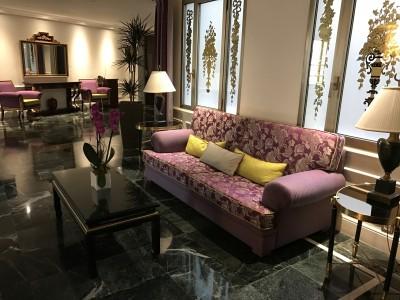 The Westin Palace Madrid sofas outside elevator