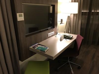 frankfurt element airport hotel bedroom desk