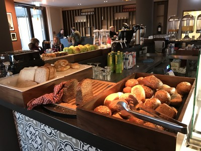 Frankfurt element hotel airport breakfast bread