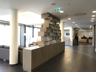 Element Frankfurt hotel lobby