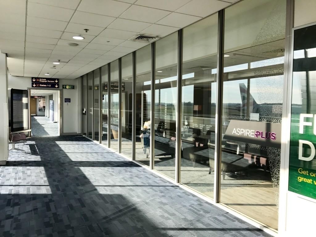 Aspire plus lounge Newcastle Airport entrance