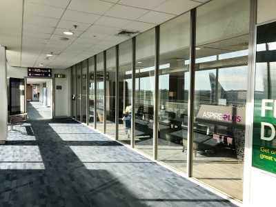 Aspire plus lounge Newcastle Airport entrance