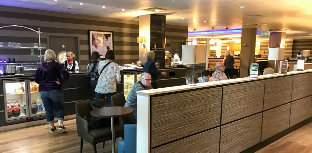 Aspire lounge Newcastle Airport staffed bar