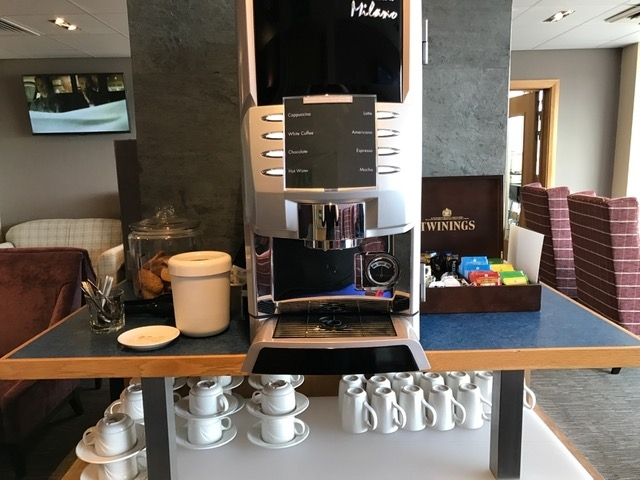 Aspire Lounge Inverness Airport coffee