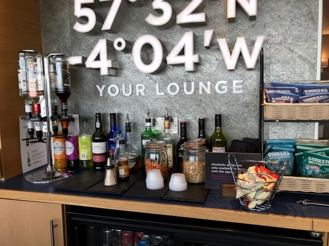 Aspire Lounge Inverness Airport alcohol