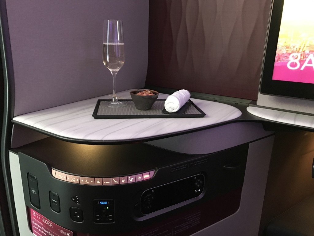 qatar airways new business class seat individual