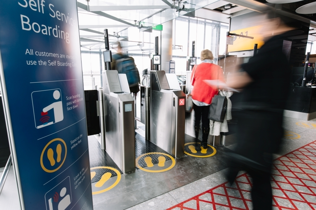 Self Service Boarding Gates at British Airways Heathrow Terminal 5 for Domestic Flights Taken: 21st March 2017 Picture by: Stuart Bailey
