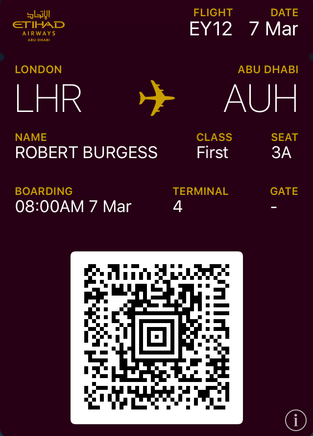Etihad A380 first class review