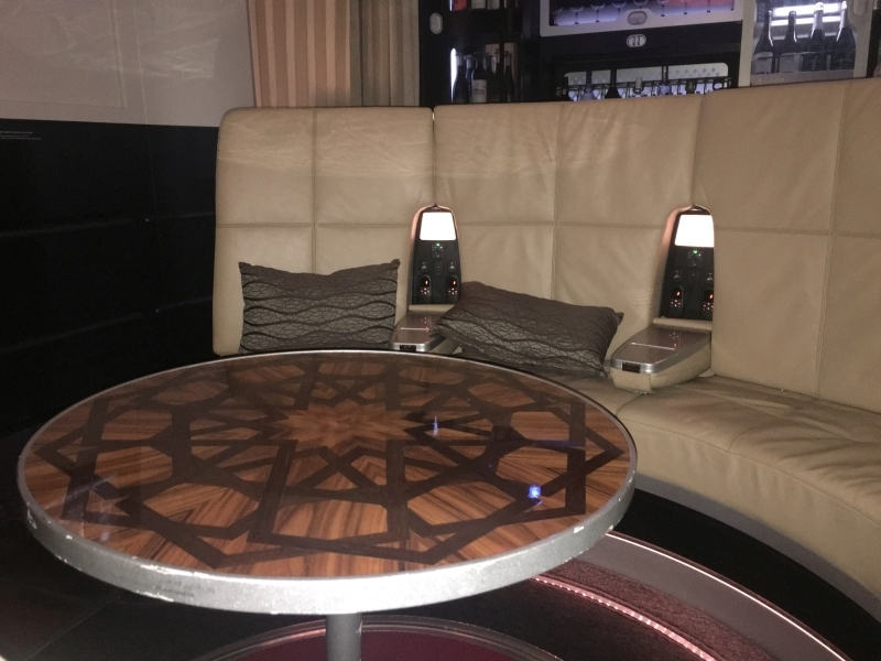 Etihad First Class Apartment A380 food drink