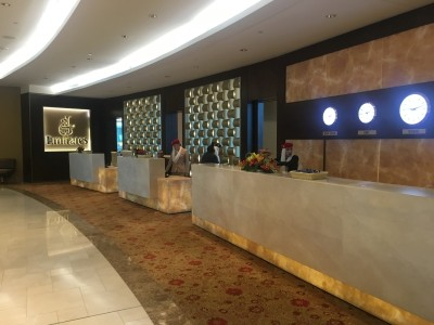 Emirates First Class lounge Dubai Airport review