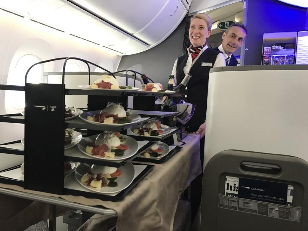 food cart ba cabin crew