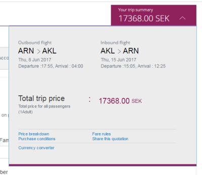 Qatar Airways Auckland deal