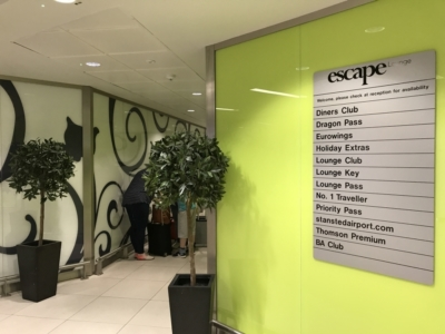 Escape Lounge Stansted Airport review 2