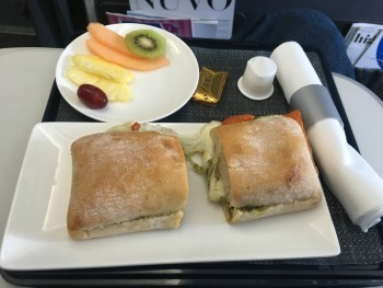 British Airways domestic business class meal