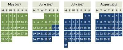 Aer Lingus Avios off peak calendar 2017_1