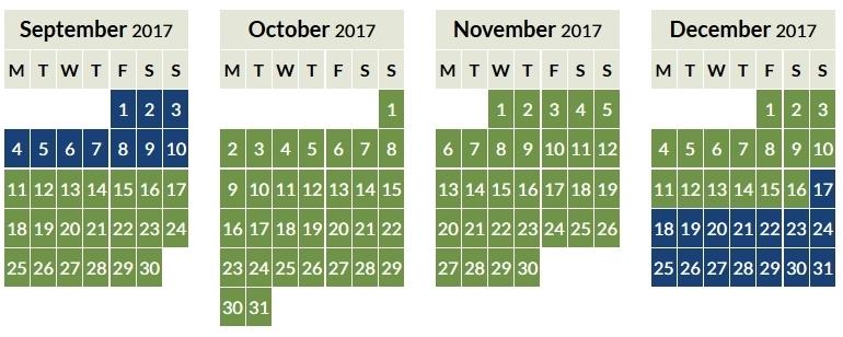 Aer Lingus Avios off peak calendar 2017_2