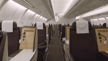 Swiss business class seat