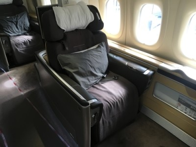 Lufthansa 747-8 First Class review - seat 1