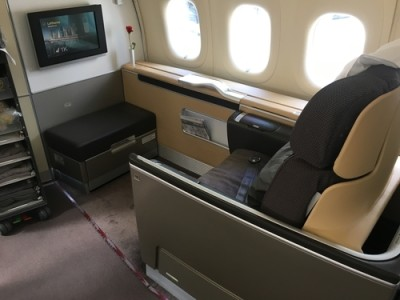 Lufthansa 747-8 First Class review - seat 2