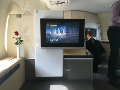 Lufthansa 747-8 First Class review - seat 3