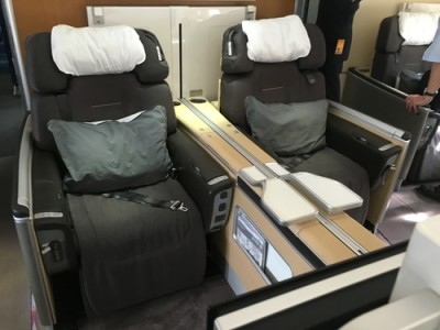 Lufthansa 747-8 First Class review - seat 4