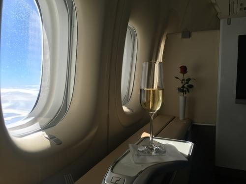 Lufthansa 747-8 First Class review - seat 6
