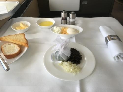 Lufthansa first class food and drink during coronavirus