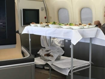 Lufthansa first class food and drink during coronavirus