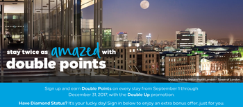 Hilton double points promotion