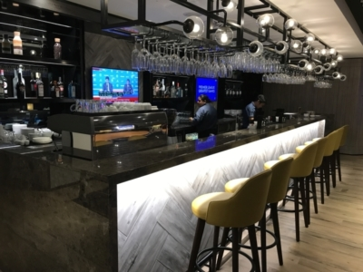 Plaza Premium lounge Heathrow Terminal 4 arrivals review