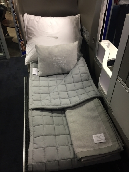 New British Airways Club World White Company bedding