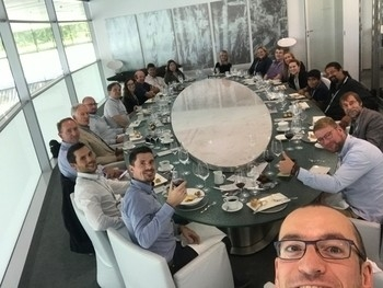 McLaren Technology Centre lunch