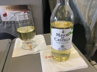Iberia Express business class wine review