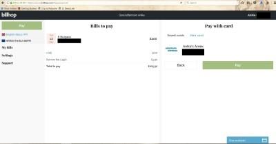 payment card billhop