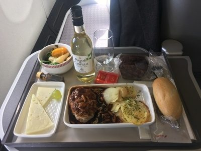 Iberia long haul business class A330 A340 review food