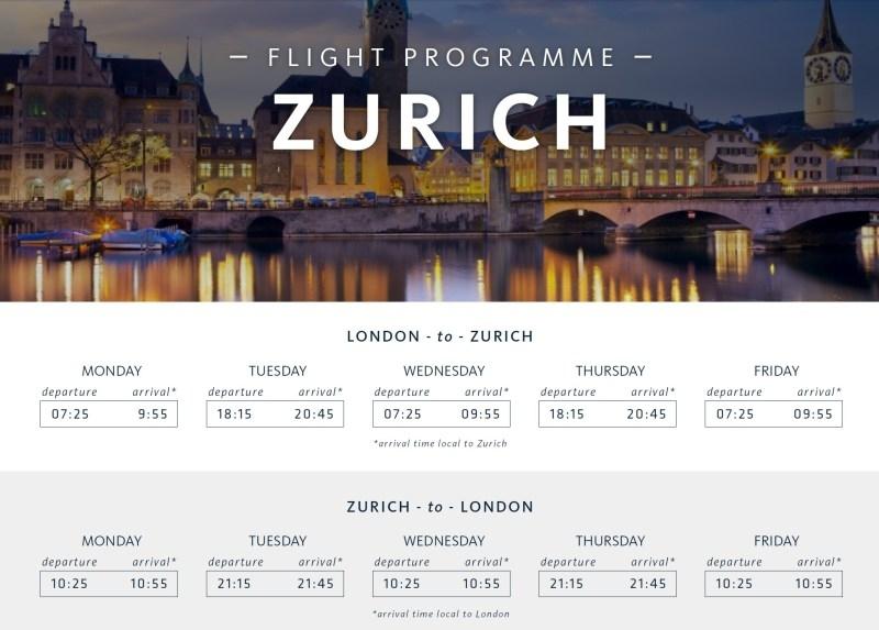 Calendar Zurich : Surf air schedule zurich