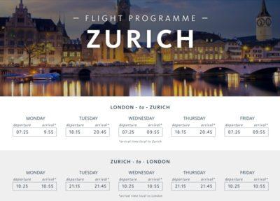 Surf Air Schedule Zurich