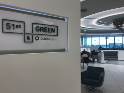 review 51st and green lounge at Dublin Airport