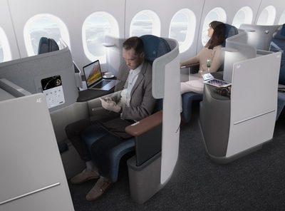 Lufthansa new business class seat 777-9