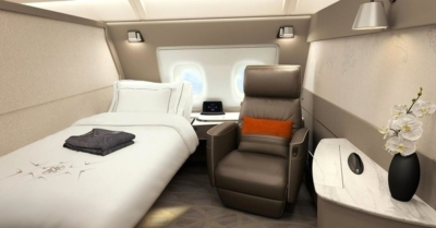 New Singapore AIrlines first class suite