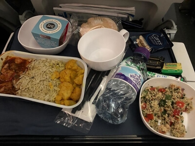 British Airways economy food