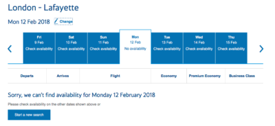 American Airlines control inventory effect avios