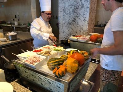 Waldorf Astoria Dubai breakfast