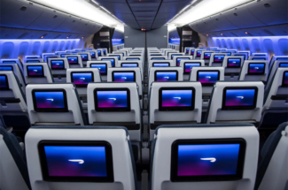 British Airways economy World Traveller cabin A350