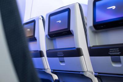 New British Airways economy TV screen