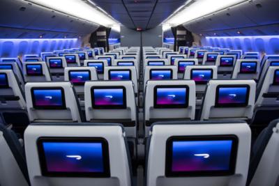 New British Airways economy World Traveller seating