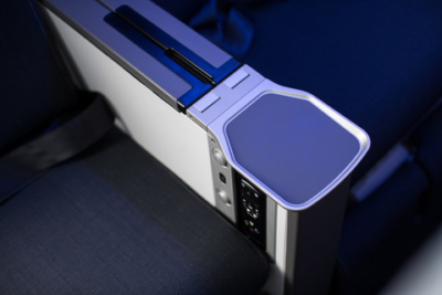 British Airways World Traveller Plus power socket