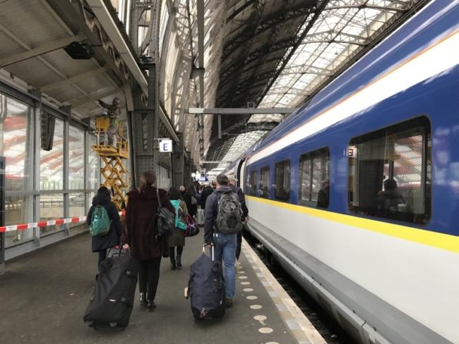 Eurostar inaugural London to Amsterdam