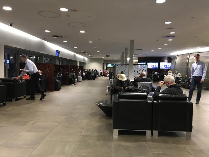 South African Airways SAA business lounge Johannesburg